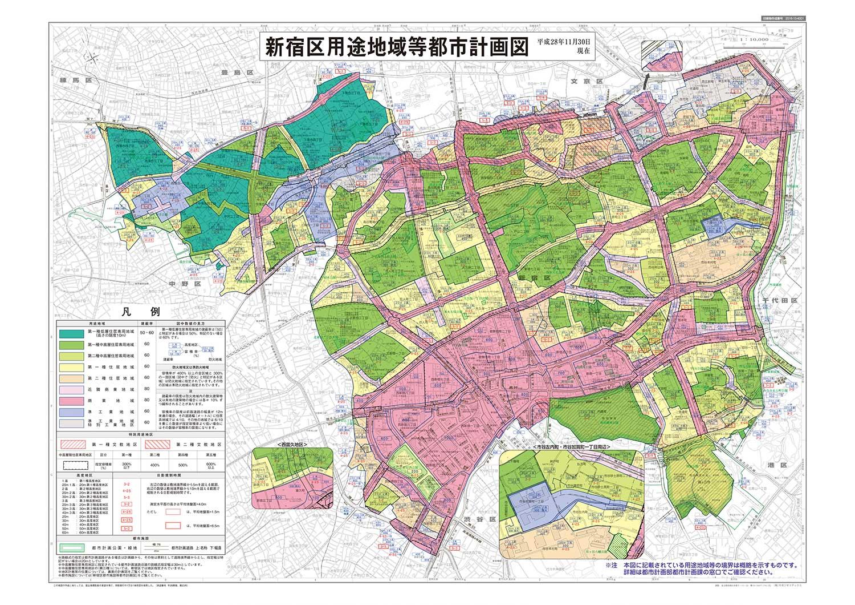 新宿区用途地域等都市計画図